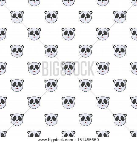 Head of panda pattern. Cartoon illustration of head of panda vector pattern for web
