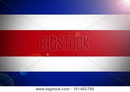 Costa Rica flag illustration symbol Costa Rica flag