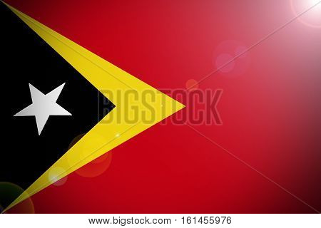 Timor Leste flag  East Timor national flag illustration symbol.