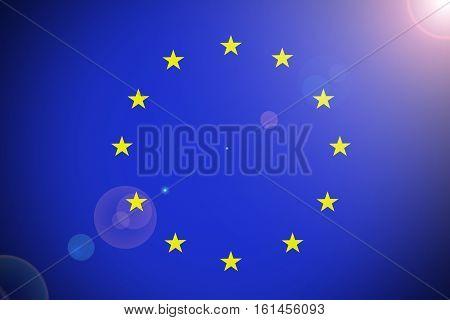 European Union flag European Union national flag illustration symbol