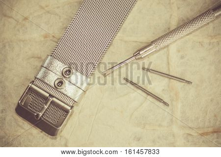Watch Repair Accessories Kit Tool In Vintage Picture Style