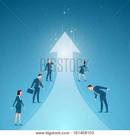 Business concept vector illustration. success, growth, business opportunities concept. Elements are layered separately in vector file.