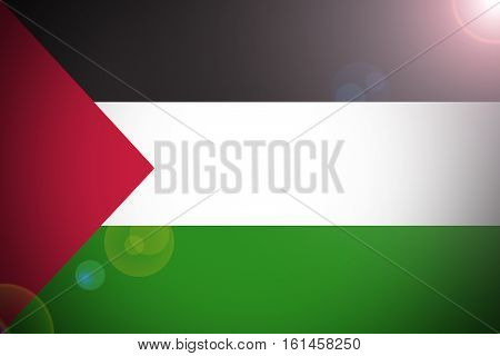 Palestine flag ,3D Palestine national flag illustration symbol.