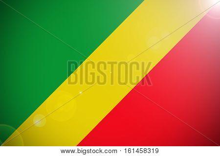 Republic of the congo flag ,Congo national flag illustration symbol