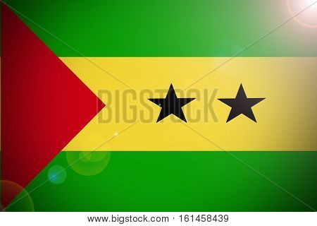 Sao Tome and Principe flag illustration symbol.