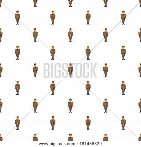 Man in army uniform pattern. Cartoon illustration of man in army uniform vector pattern for web