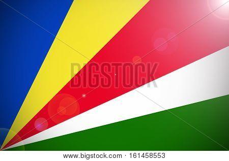 Seychelles flag ,Seychelles national flag illustration symbol