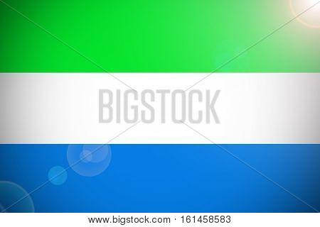 Sierra Leone flag ,Sierra Leone national flag illustration symbol