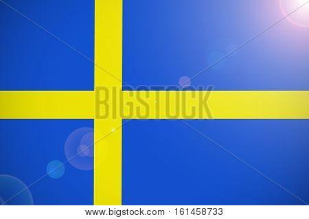 Sweden national flag illustration symbol. sweden flag
