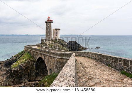 A view of Petit Minou lighthousein Plouzane, France. Dec 2016