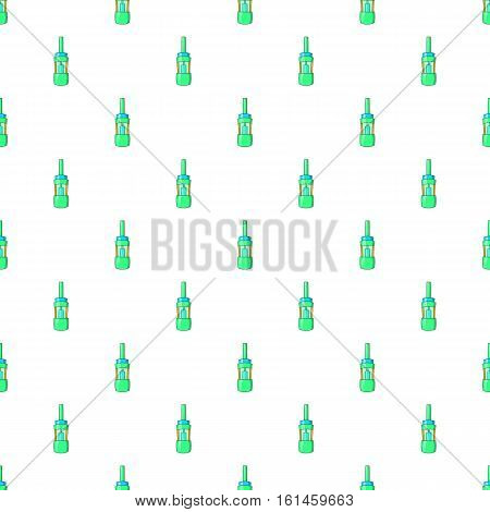 Electronic cigarette cartridge pattern. Cartoon illustration of electronic cigarette cartridge refill bottle vector pattern for web