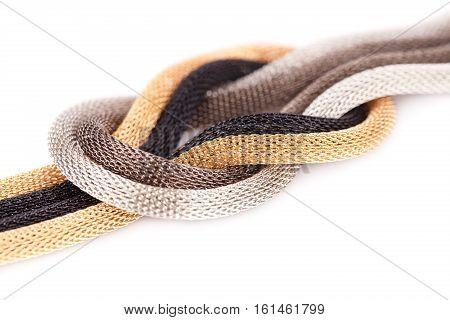 Ancient style bracelet isolated on white background.