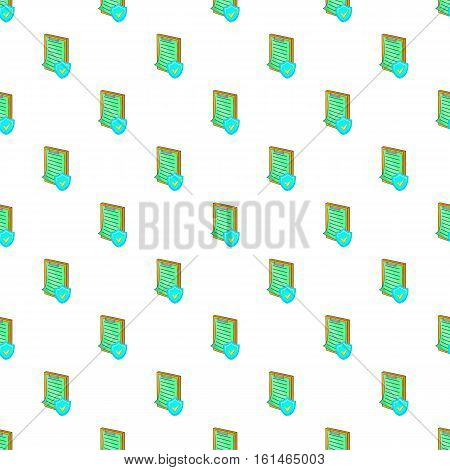 Clipboard with insurance form pattern. Cartoon illustration of clipboard with insurance form vector pattern for web