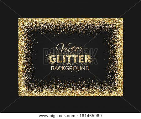 Black gold background glitter vector photo bigstock black and gold background with glitter frame and space for text vector glitter decoration stopboris Image collections