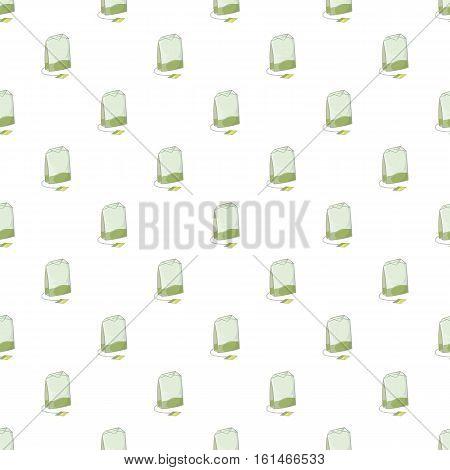 Teabag pattern. Cartoon illustration of teabag vector pattern for web