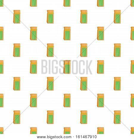 Craft paper tea pack pattern. Cartoon illustration of craft paper tea pack vector pattern for web