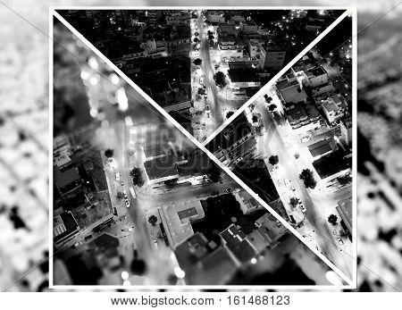 collage of athens neighborhood greece drom above