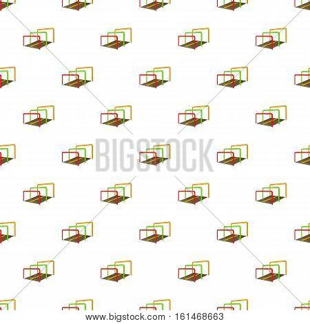 Hurdles on a playground pattern. Cartoon illustration of hurdles on a playground vector pattern for web
