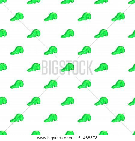 Green playground slide pattern. Cartoon illustration of green playground slide vector pattern for web