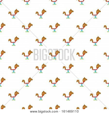Spring seesaw pattern. Cartoon illustration of spring seesaw vector pattern for web