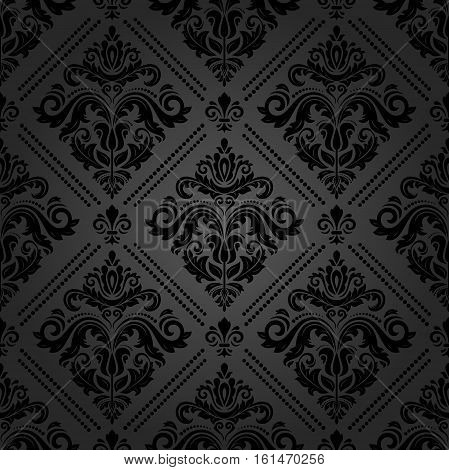 Seamless classic vector dark pattern. Traditional orient ornament. Classic vintage background