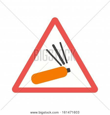 Gas, warning, cylinder icon vector image. Can also be used for warning caution. Suitable for mobile apps, web apps and print media.
