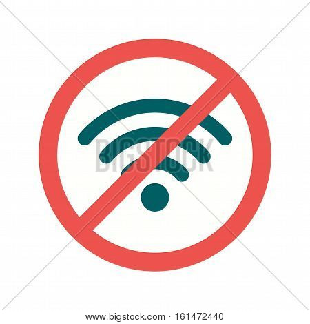 No, signal, internet icon vector image. Can also be used for warning caution. Suitable for use on web apps, mobile apps and print media.