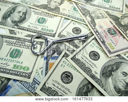dollar cash money key real estate concept