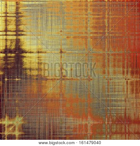 Retro style graphic composition on textured grunge background. With different color patterns: yellow (beige); brown; green; gray; red (orange)