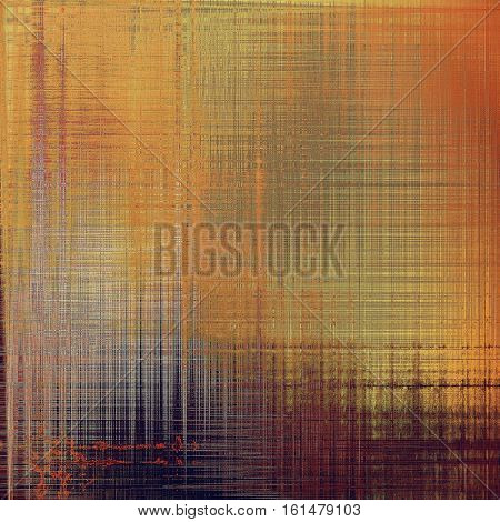 Retro style graphic composition on textured grunge background. With different color patterns: yellow (beige); brown; gray; red (orange); purple (violet); pink