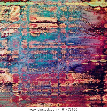 Distressed texture, faded grunge background or backdrop. With different color patterns: yellow (beige); blue; red (orange); purple (violet); pink; cyan