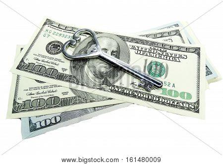 key on dollar cash money real estate concept