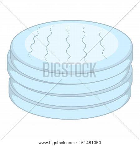 Cotton disc icon. Cartoon illustration of cotton disc vector icon for web design