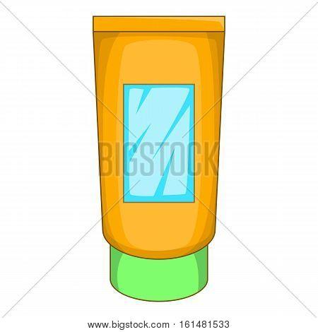 Cream tube icon. Cartoon illustration of cream tube vector icon for web design