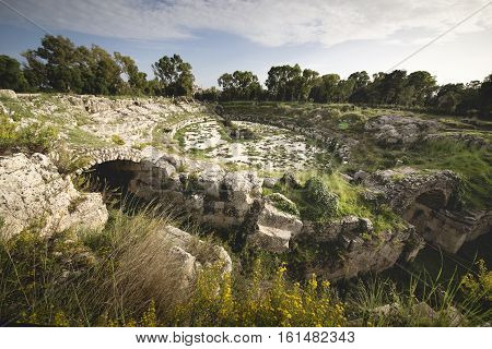 Ruins Of Roman Theater, Siracusa