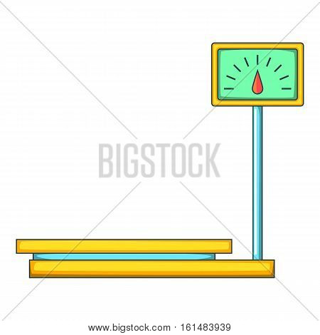 Electronic market scale icon. Cartoon illustration of market scale vector icon for web design
