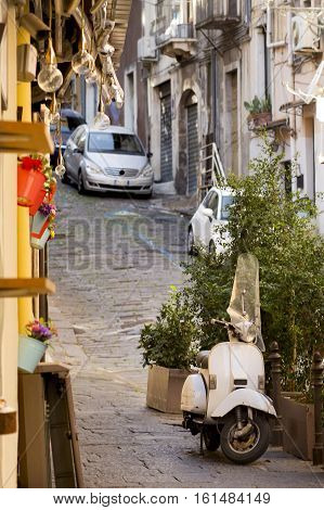 Postcard From Italy, Old Streets With Vintagte Vehicles