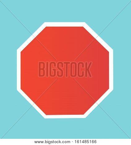 Blank Stop Sign vector illustration art design