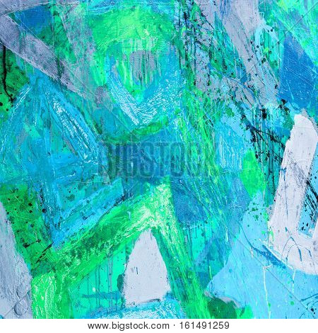 Mixed technics and texture painting on canvas. Abstract art background. Hand-painted. Contemporary art
