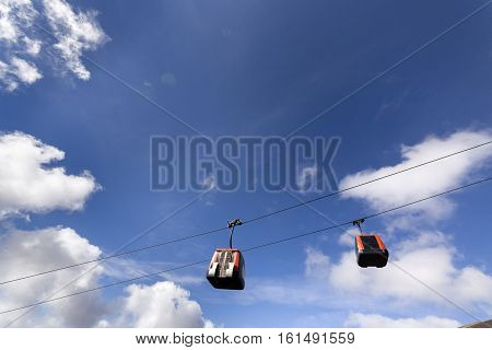 Cable Car To Etna Volcano. Sicily, Italy