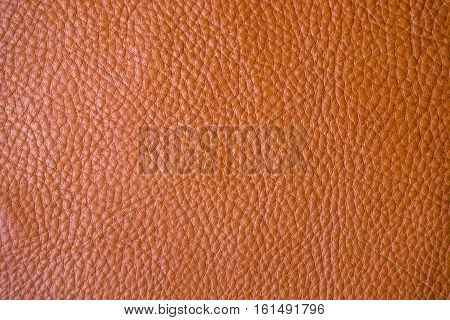 Genuine Full Grain Tan Leather Background