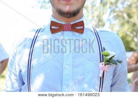 Groomsman on a wedding day