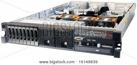 Rack-mount Server Over White