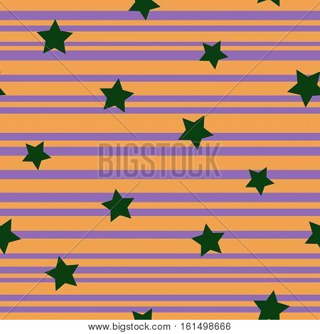 Line and star seamless pattern. Fashion graphic background design. Modern stylish abstract texture. Color template for prints textiles wrapping wallpaper website etc Stock VECTOR illustration