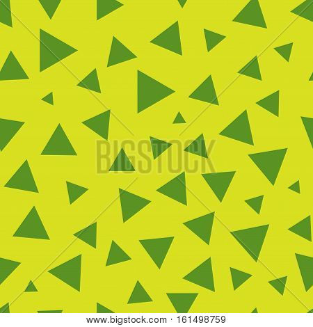 Triangle chaotic seamless pattern. Fashion graphic background design. Modern stylish abstract colorful texture. Template for prints textiles wrapping wallpaper website. Stock VECTOR illustration