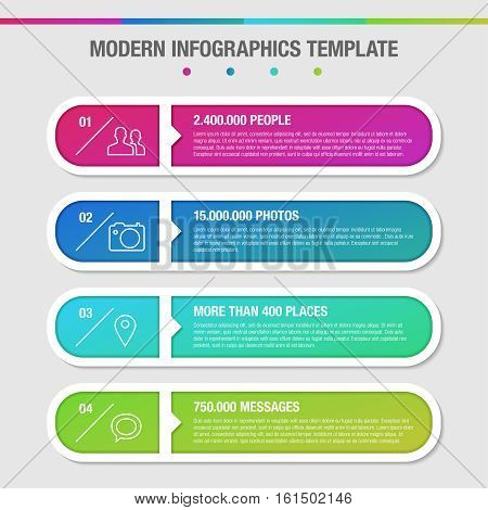 Modern Design Template For Infographics With Icons