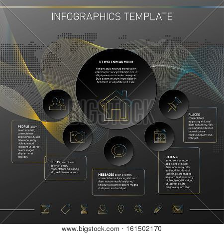Modern Design Template For Infographics