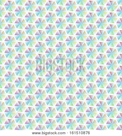 Abstract geometric line colorful hexagon seamless pattern background, Vector illustration with swatches
