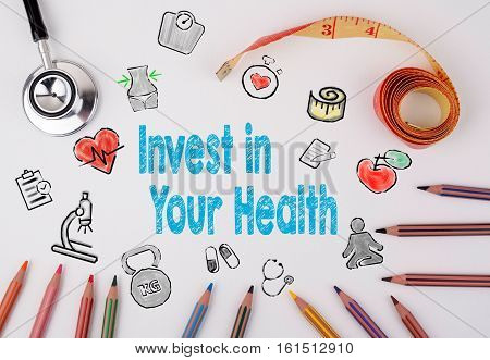 Invest in your health concept. Healty lifestyle background.