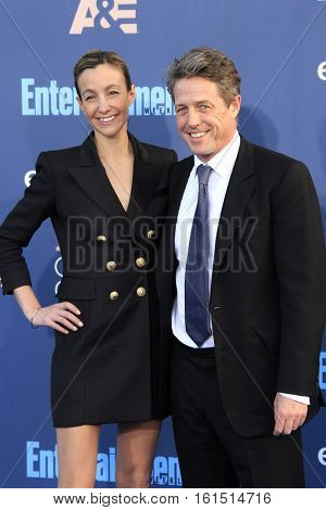 SANTA MONICA - DEC 11: Anna Elisabet Eberstein, Hugh Grant at The 22nd Annual Critics' Choice Awards at Barker Hangar on December 11, 2016 in Santa Monica, California